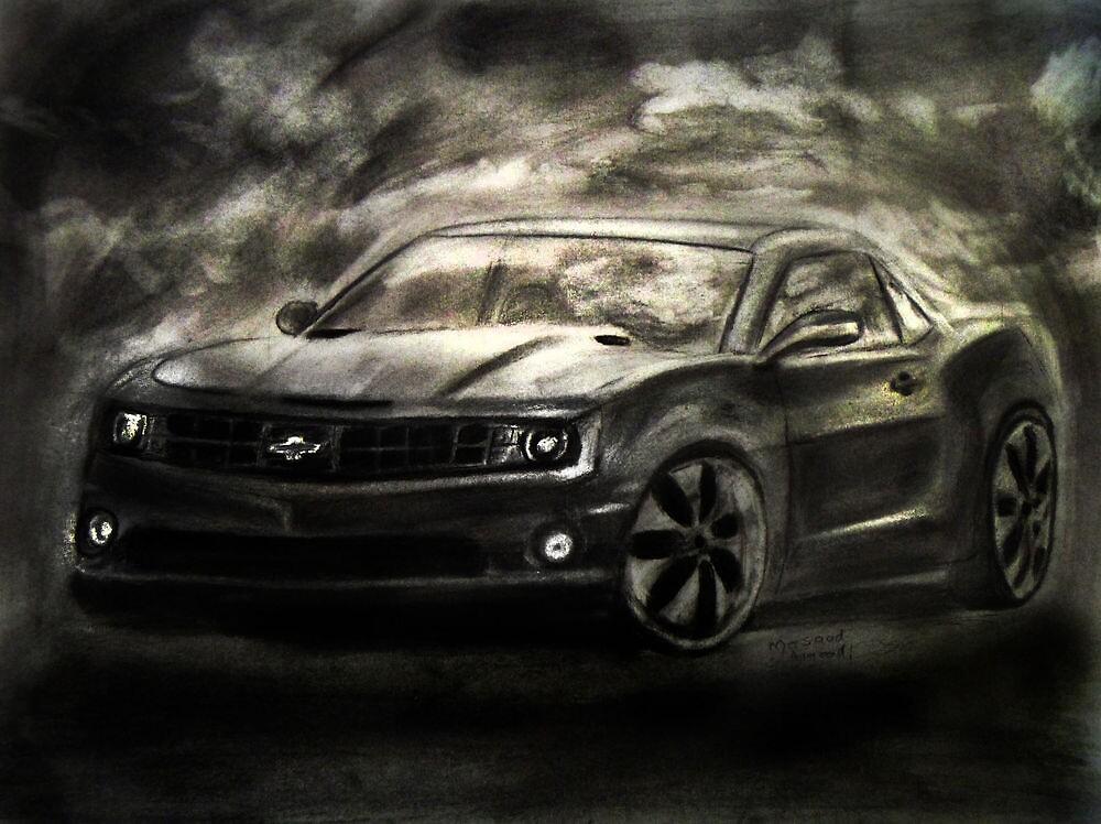 Chevrolet Camaro Drawing by Masaad Amoodi