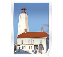 Lighthouse and museum, Sandy Hook Poster