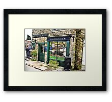 The Sandwich Shop - Helmsley. Framed Print
