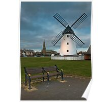 Windmill at Lytham St. Annes Poster
