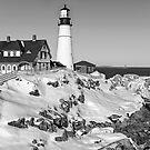 Portland Head Light - Maine USA (mono) by TonyCrehan
