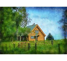 Little Log Cottage Photographic Print