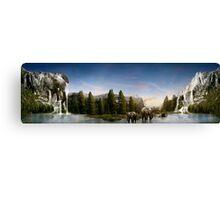 Elephant Valley Canvas Print