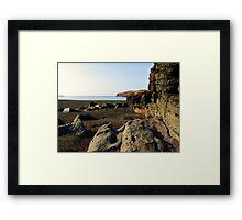 Volcanic Shores Framed Print