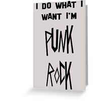 punk rock Greeting Card