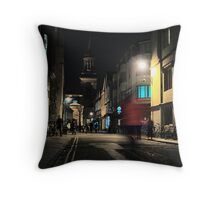 Turl Street Dash, Oxford Throw Pillow