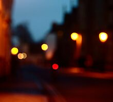 Holywell Street, Oxford in dusk by eekCards