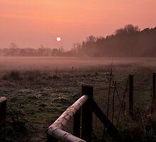 Sunrise Walk Minster Lovell  Cotswolds UK by James  Key