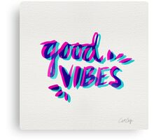 Good Vibes – Magenta & Cyan Canvas Print