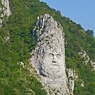 Decebalus monument, Romania by Margaret  Hyde