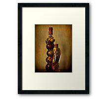 Spice Bottles Framed Print