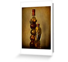 Spice Bottles Greeting Card