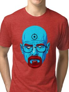 BREAKING BAD-WALTER WHITE-DR MANHATTAN Tri-blend T-Shirt