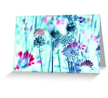 Botanical Abstract in Pastel XII Greeting Card
