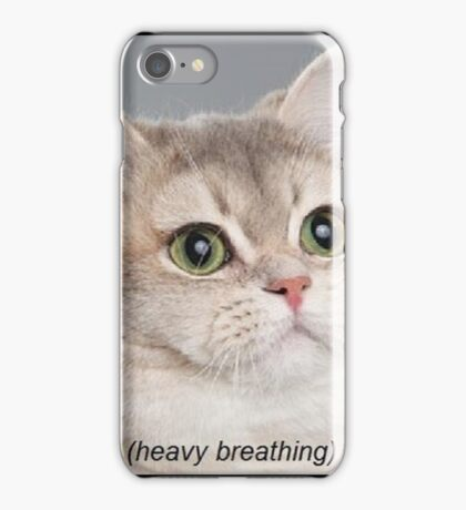 Heavy Breathing Cat iPhone Case/Skin