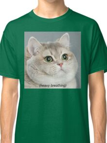 Heavy Breathing Cat Classic T-Shirt