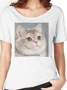 Heavy Breathing Cat Women's Relaxed Fit T-Shirt