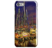 FULL MOON AT THE PIER, by E. Giupponi iPhone Case/Skin