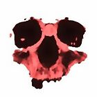 Partial Skull Magenta by cipher