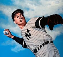 Joe DiMaggio painting by PaulMeijering