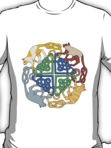 Four Cat Knot T-Shirt