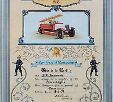 Fire Brigade Certificate  by RossHeywood