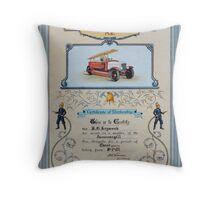 Fire Brigade Certificate  Throw Pillow