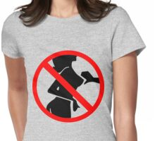 No Touching! Womens Fitted T-Shirt