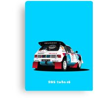PEUGEOT 205 TURBO 16 RALLY CAR Canvas Print