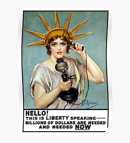 This Is Liberty Speaking -- World War I Poster