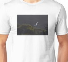 Egret in flight  Unisex T-Shirt