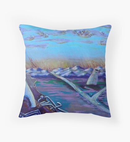 "After the Disasters - ""untitled"" - prelude to double disasters - *featured Throw Pillow"