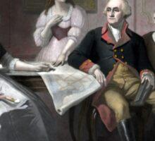 Washington And His Family Sticker