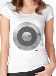 mdnt Mountains Women's Fitted Scoop T-Shirt