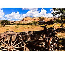 Old Wagon Ghost Ranch Photographic Print
