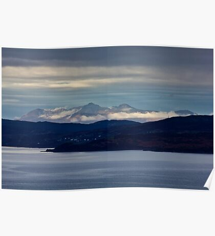 The Cuillins across the Sound Of Sleat Poster