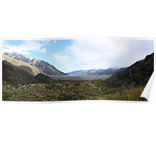Mt cook valley Poster