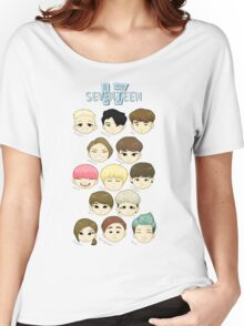 SEVENTEEN Chibi Heads Women's Relaxed Fit T-Shirt