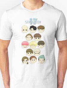 SEVENTEEN Chibi Heads Unisex T-Shirt