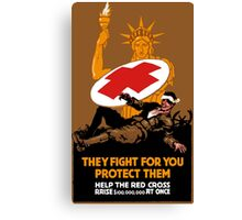Protect Them -- Help The Red Cross Canvas Print