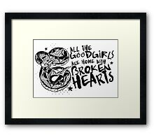 Rebirth & Co Broken Hearts Framed Print