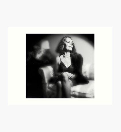 Lynn - Film Noir Style Art Print