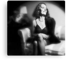 Lynn - Film Noir Style Canvas Print