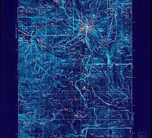 USGS Topo Map Oregon Mount Hood 283229 1927 125000 Inverted by wetdryvac