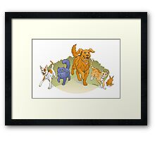 Pets on the March Framed Print