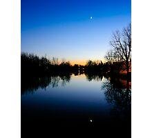 Moon Reflection Photographic Print