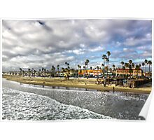 """""""The End of a Day"""" - Newport Beach CA Poster"""