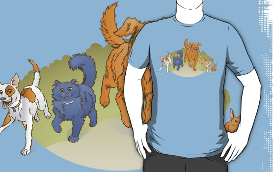 Pets on the March shirt by Stephanie Smith