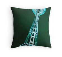 Green Needle Throw Pillow
