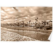 """""""The End of a Day"""" Newport Beach,CA Poster"""